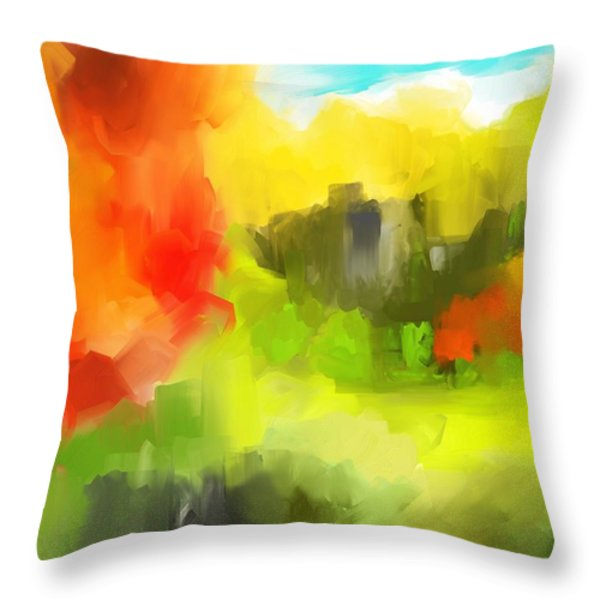 Abstract 112210 Throw Pillow by David Lane