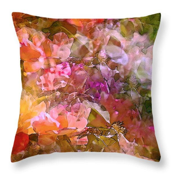 Abstract 276 Throw Pillow by Pamela Cooper