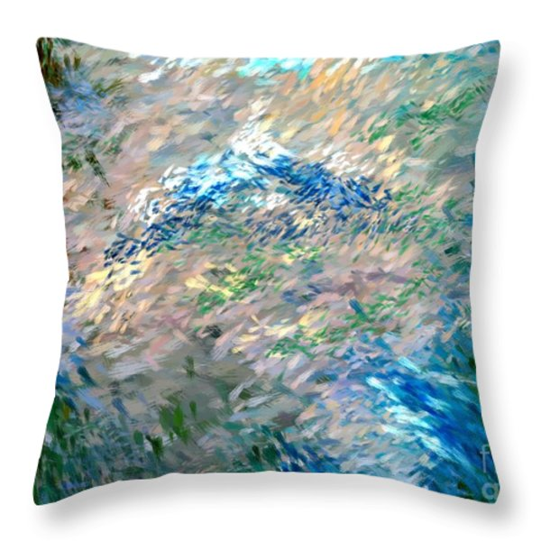 abstract 6-03-09 a Throw Pillow by David Lane