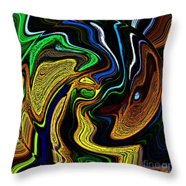 Abstract 6-10-09-a Throw Pillow by David Lane