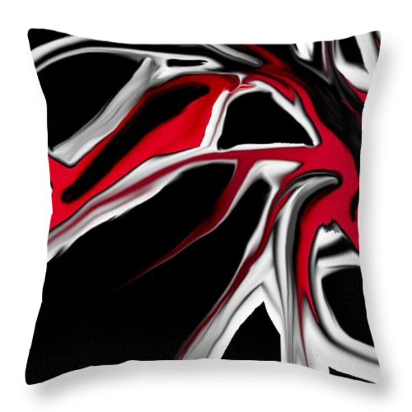abstract 6-14-09 Throw Pillow by David Lane