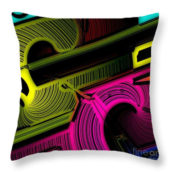 Abstract 6-21-09 Throw Pillow by David Lane