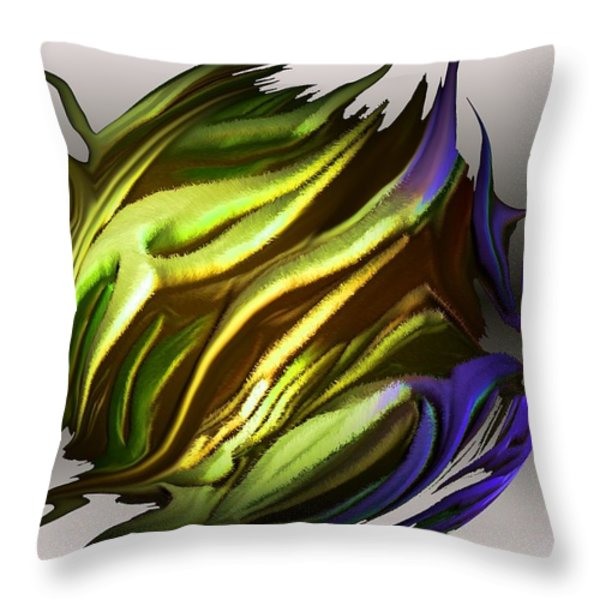abstract 7-26-09-a Throw Pillow by David Lane