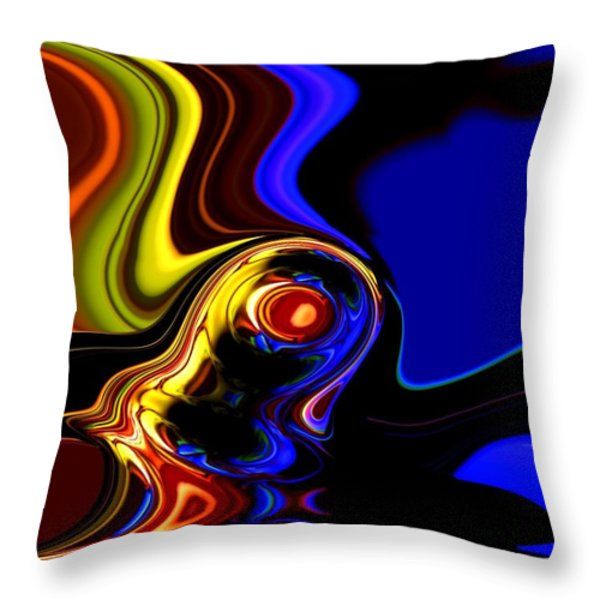 abstract 7-26-09 Throw Pillow by David Lane