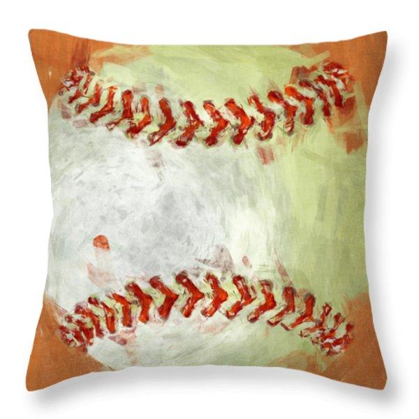 Abstract Baseball Throw Pillow by David G Paul