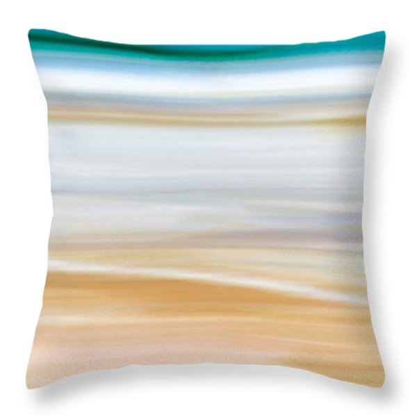 Throw Pillow featuring the painting Abstract Beachscape by Frank Tschakert