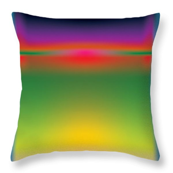 Abstract Color  Throw Pillow by Gary Grayson