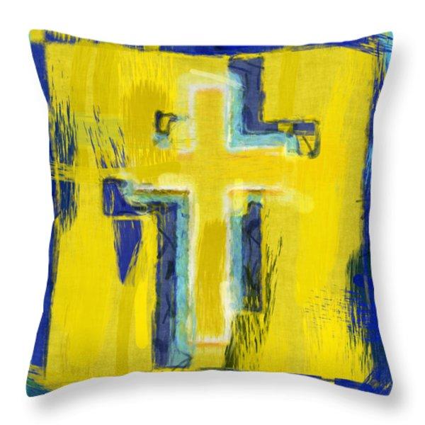 Abstract Crosses Throw Pillow by David G Paul