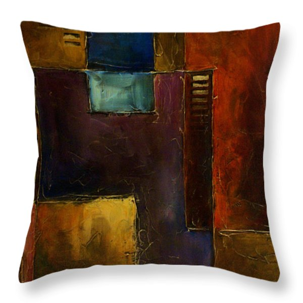 Abstract Design 65 Throw Pillow by Michael Lang