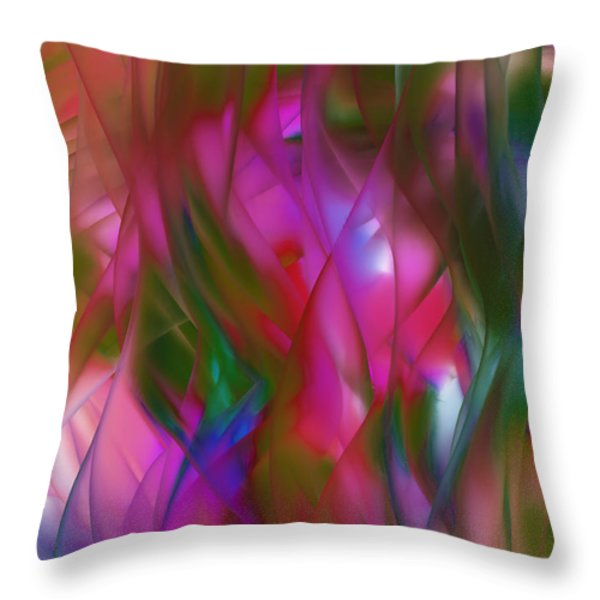 Abstract Dreams Throw Pillow by Gina Lee Manley