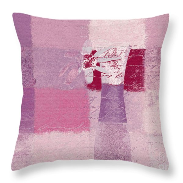 Abstract Floral - 11v3t09 Throw Pillow by Variance Collections
