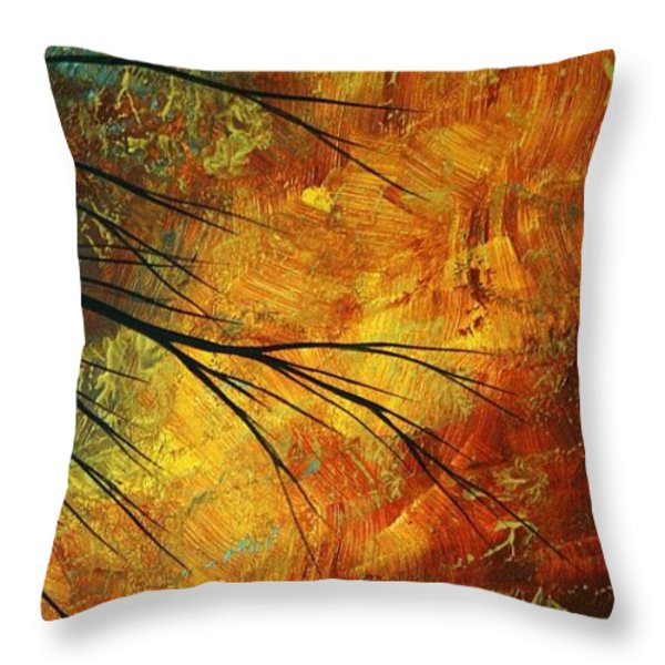 Abstract Landscape Art Passing Beauty 5 Of 5 Throw Pillow by Megan Duncanson