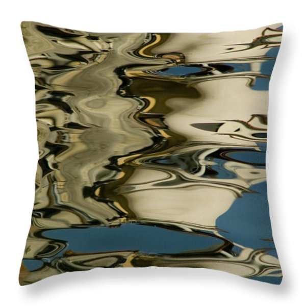 Abstract Reflections Formed By Rippling Throw Pillow by Todd Gipstein