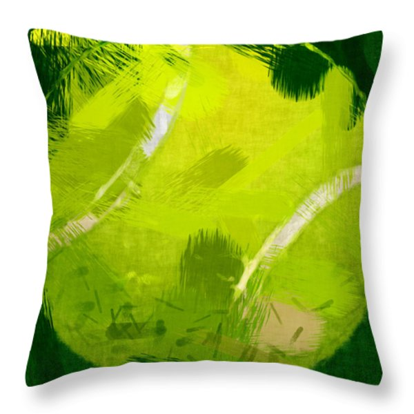 Abstract Tennis Ball Throw Pillow by David G Paul