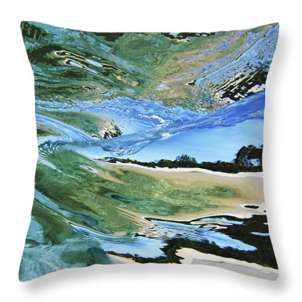 Abstract Underwater 4 Throw Pillow by Vince Cavataio - Printscapes