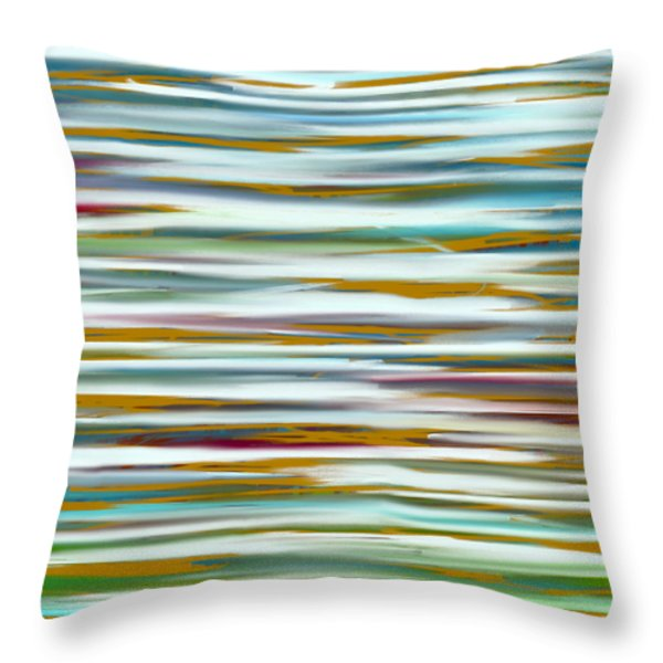 Throw Pillow featuring the painting Abstract Water Reflection by Frank Tschakert