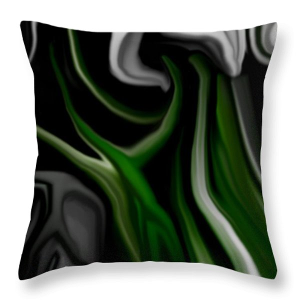 Abstract309h Throw Pillow by David Lane