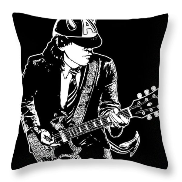 ACDC No.03 Throw Pillow by Caio Caldas