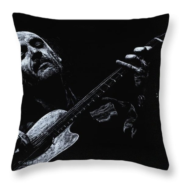 Acoustic Serenade Throw Pillow by Richard Young