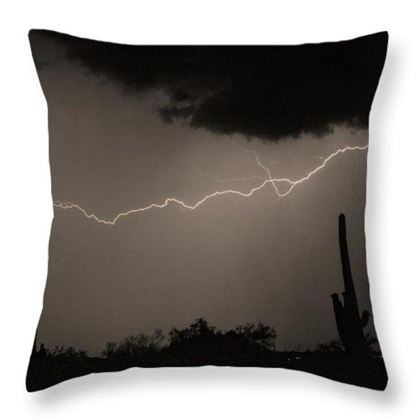 Across The Desert - Sepia Print Throw Pillow by James BO  Insogna