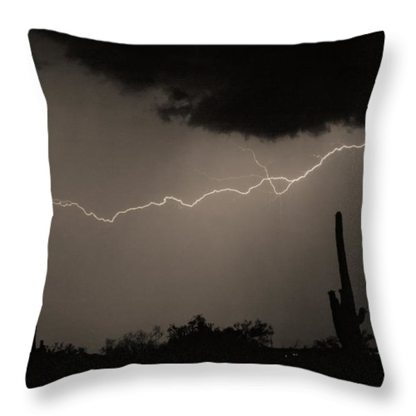 Across the Desert - Sepia print Throw Pillow by James BO  Insogna