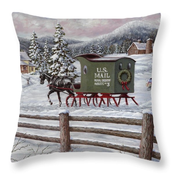 Across The Miles Throw Pillow by Richard De Wolfe