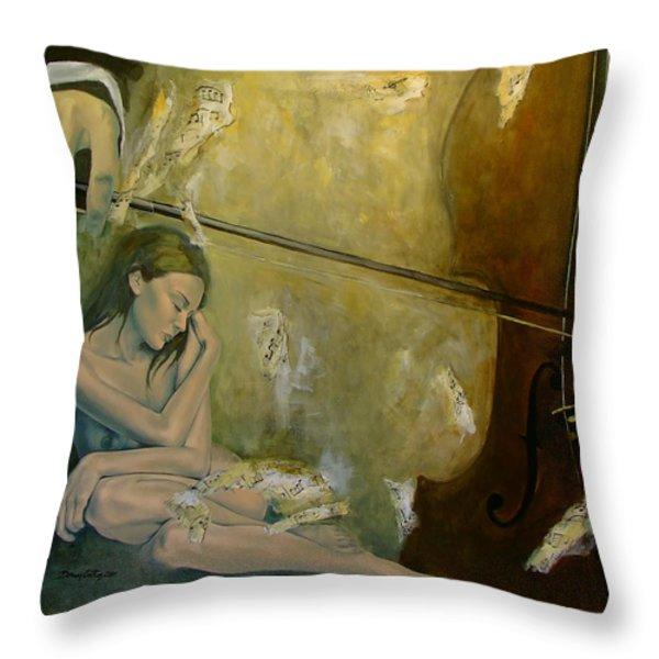 Adagio  Sentimental confusion Throw Pillow by Dorina  Costras