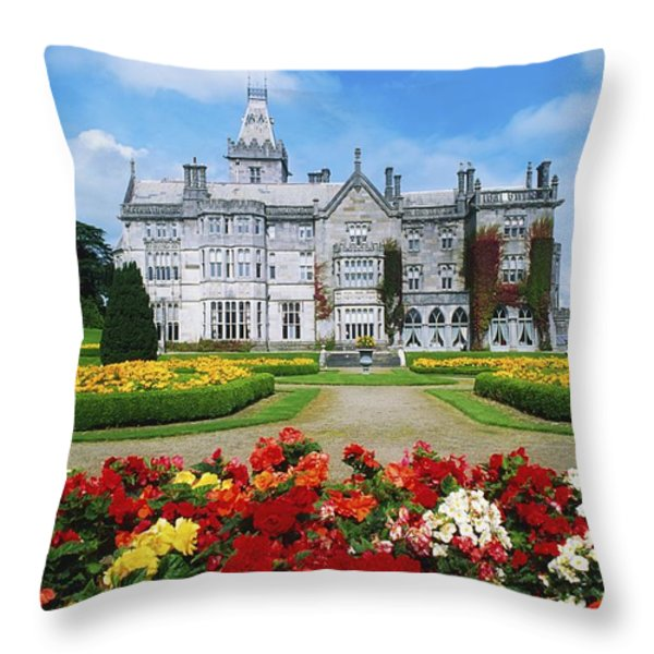 Adare Manor Golf Club, Co Limerick Throw Pillow by The Irish Image Collection
