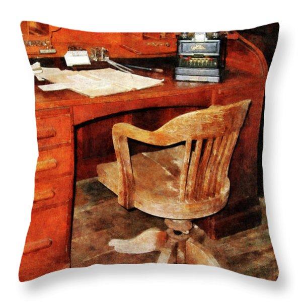 Adding Machine Throw Pillow by Susan Savad