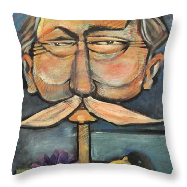 Admiral Bird Throw Pillow by Tim Nyberg