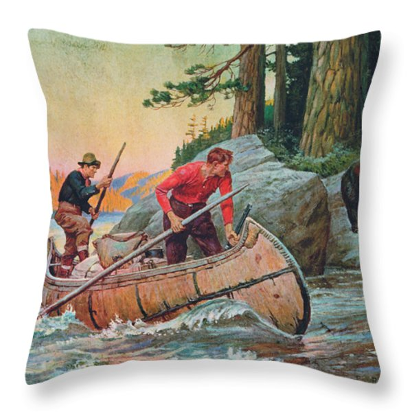 Adventures On The Nipigon Throw Pillow by JQ Licensing