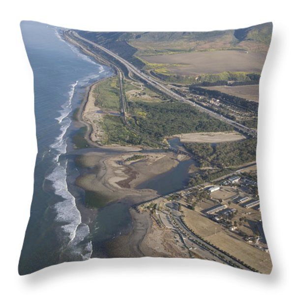 Aerial View Of Ventura Point, Ventura Throw Pillow by Rich Reid