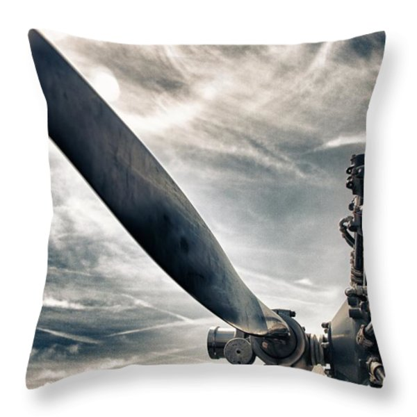 Aero Machine Throw Pillow by Nathan Larson