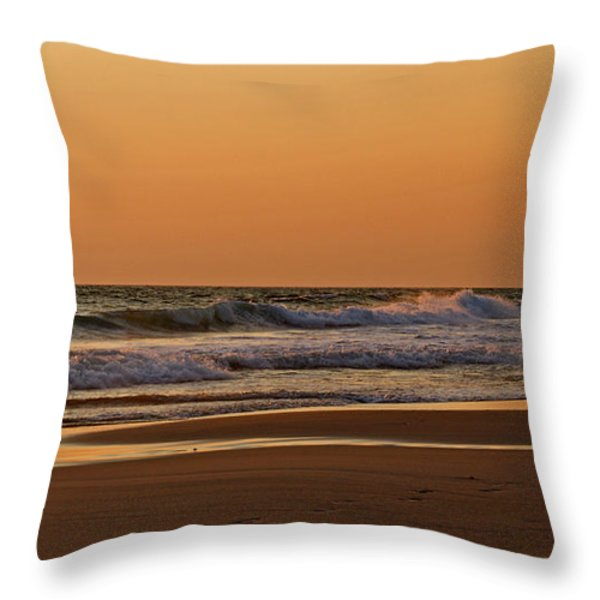 After A Sunset Throw Pillow by Sandy Keeton