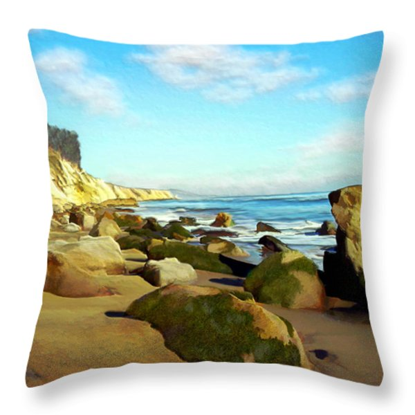 After The Fog Gaviota Throw Pillow by Kurt Van Wagner