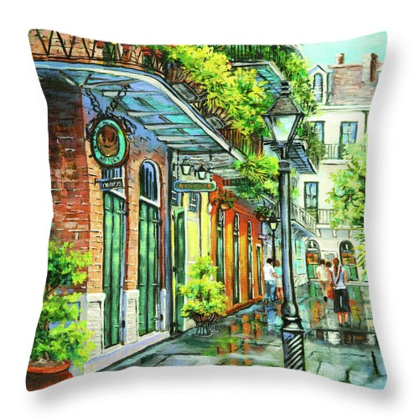 After The Rain Throw Pillow by Dianne Parks
