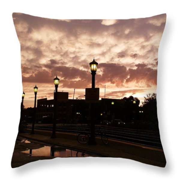 After The Storm Throw Pillow by Anna Villarreal Garbis