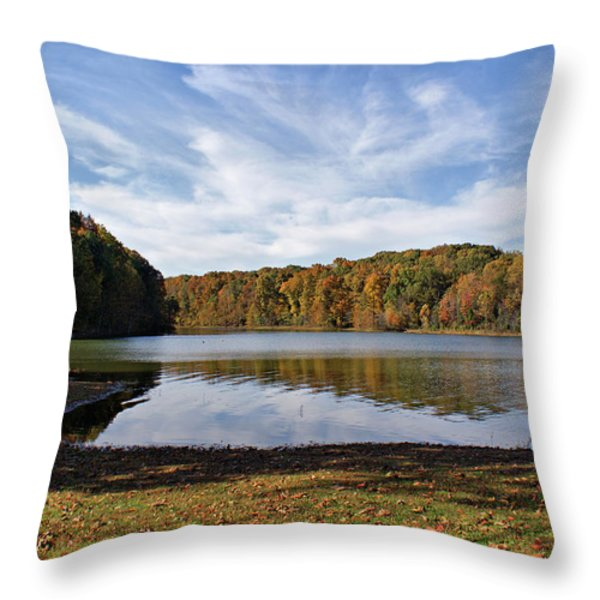 Afternoon At The Lake Throw Pillow by Sandy Keeton