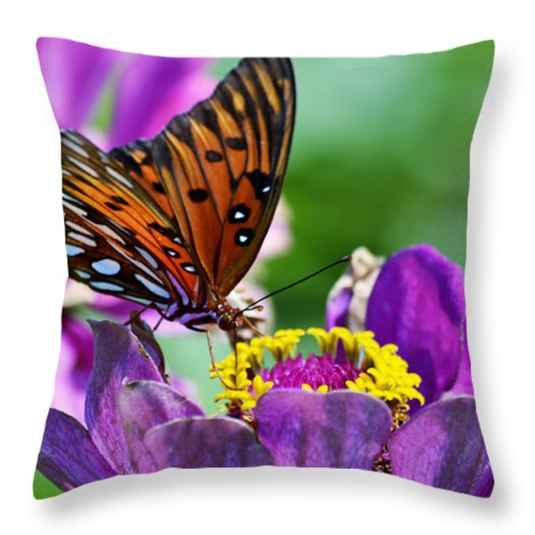 Afternoon Delight Throw Pillow by Melanie Moraga