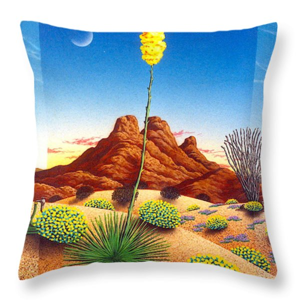 Agave Bloom Throw Pillow by Snake Jagger