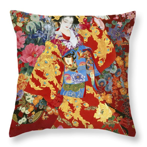 Agemaki Throw Pillow by Haruyo Morita