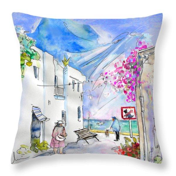 Agua Amarga 06 Throw Pillow by Miki De Goodaboom