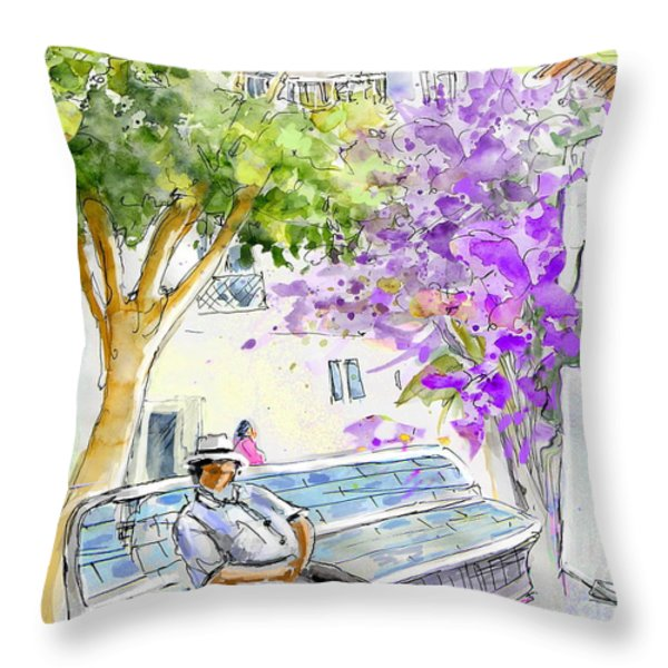 Agua Amarga 11 Throw Pillow by Miki De Goodaboom