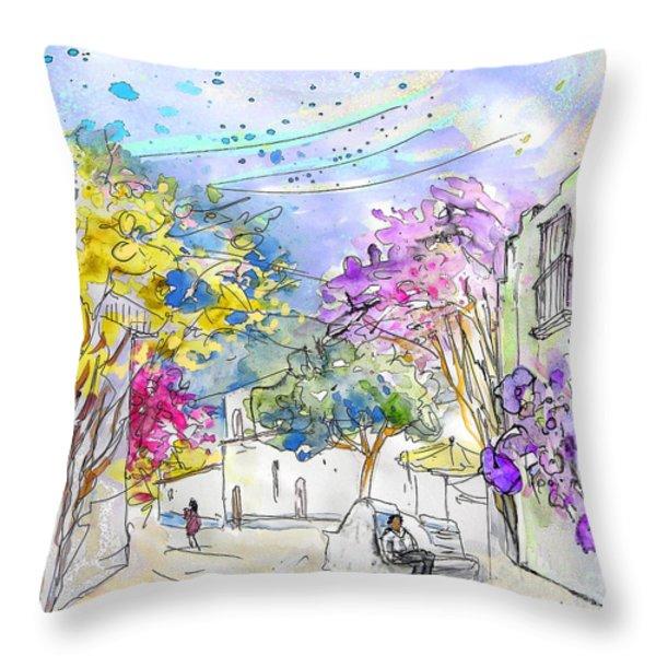 Agua Amarga 12 Throw Pillow by Miki De Goodaboom