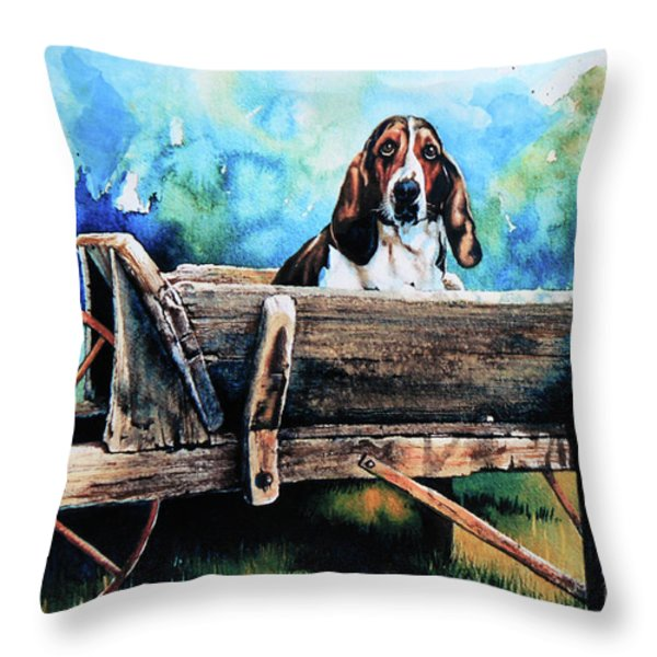Ah Pooey Throw Pillow by Hanne Lore Koehler