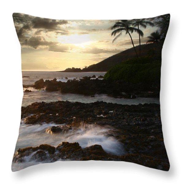 Ahe lau Makani O Paako Throw Pillow by Sharon Mau