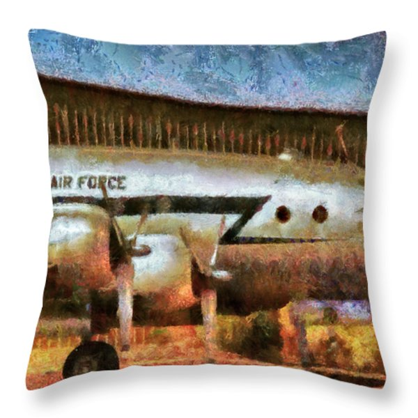 Air - United States Air Force Throw Pillow by Mike Savad
