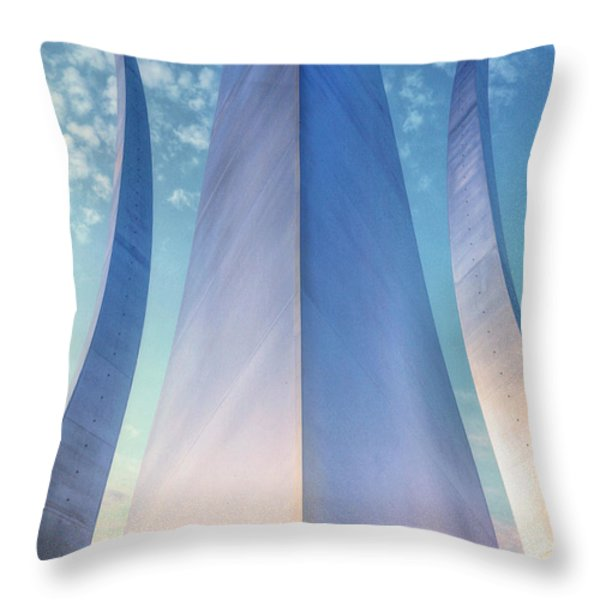 Air Force Memorial Throw Pillow by JC Findley