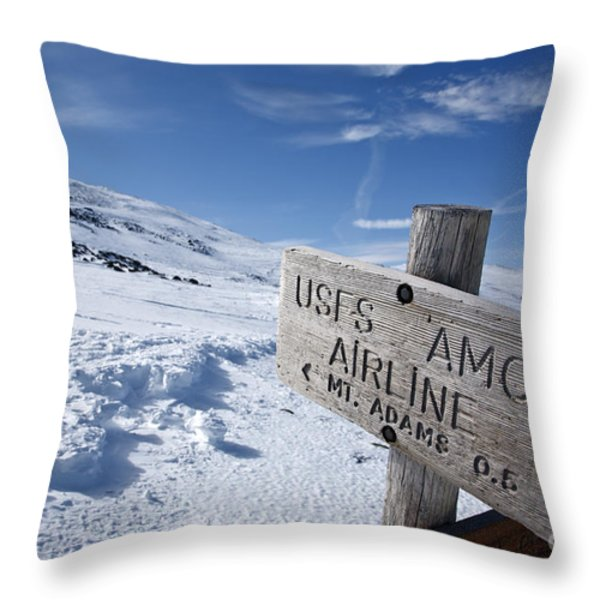 Airline Trail - White Mountains New Hampshire Throw Pillow by Erin Paul Donovan