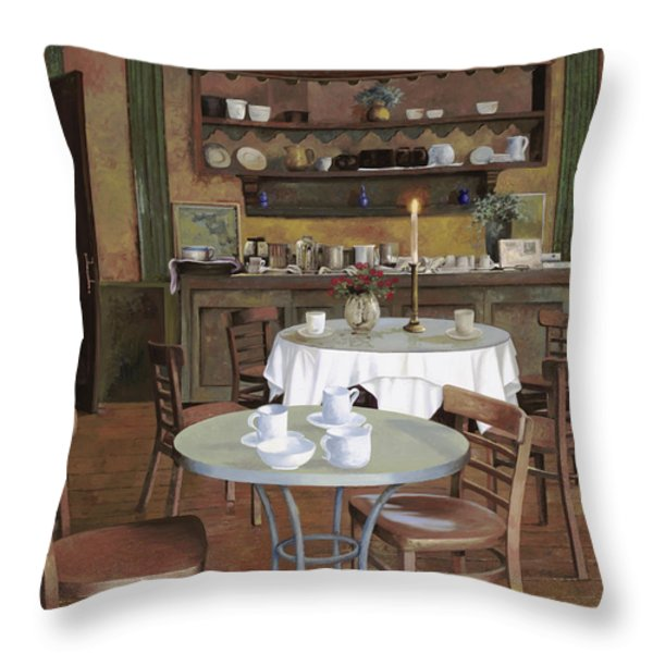 al lume di candela Throw Pillow by Guido Borelli